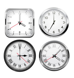 clock 3d set vector image