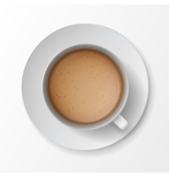 Coffee Cup Mug with Crema Foam Bubbles vector