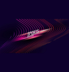 colored poster for sports suitable vector image