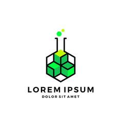 Crypto blockchain lab cryptocurrency bitcoin vector