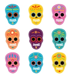 Day Of The Dead Skulls vector
