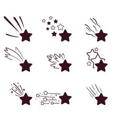 decorative cosmos meteorite vector image