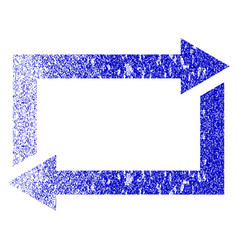 Exchange arrows grunge textured icon vector