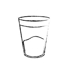 figure water glass to drink and fresh beverage vector image
