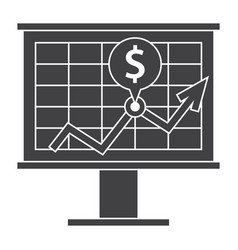 financial strategy icon vector image