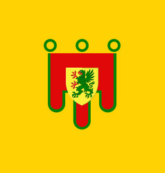 Flag of puy-de-dome in auvergne-rhone-alpes vector