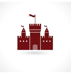 Fortress icon vector