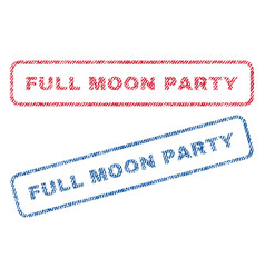 Full moon party textile stamps vector