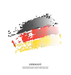 germany flag with halftone effect grunge texture vector image
