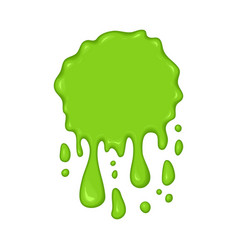 Green slime drips vector