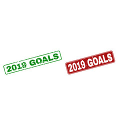 grunge 2019 goals watermarks with rounded vector image