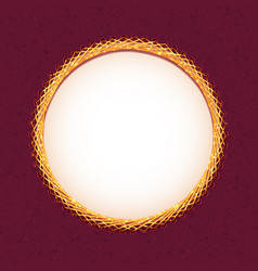 handmade embroidery circle frame vector image