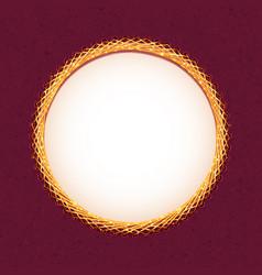 Handmade embroidery circle frame vector