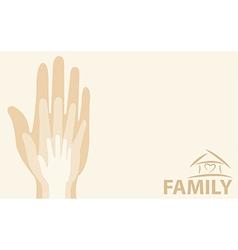 Hands family vector