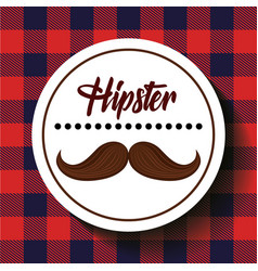 hipster style mustache icon vector image