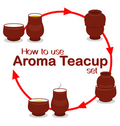 how to use chinese aroma tea cup pair set vector image