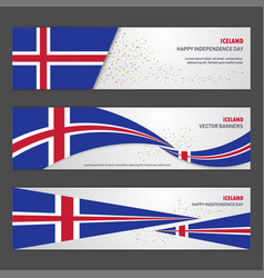 iceland independence day abstract background vector image