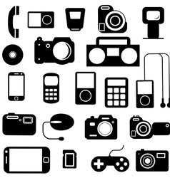 Icon with electronic gadgets vector image vector image