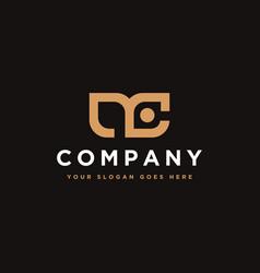 initial letter logo m and c mc monogram logo icon vector image