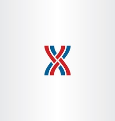 interlaced letter x logo icon vector image