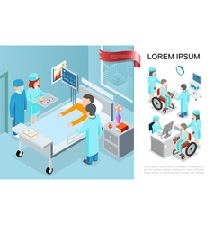 isometric medical treatment concept vector image