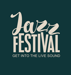 jazz festival music banner with lettering vector image