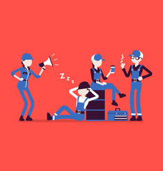 Lazy workers resting vector