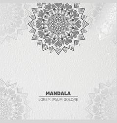 Luxury light mandala background vector
