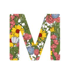 m font letter vector image