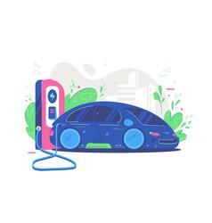 Modern electric sport car vector