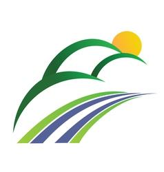 Mountain logo 2 vector image