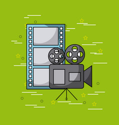movies and cinema concept vector image