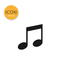 music note icon isolated flat style vector image