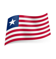 National flag of liberia red and white horizontal vector