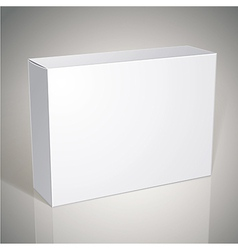 Package white box design template for your package vector image