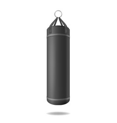 realistic 3d detailed black punching bag vector image