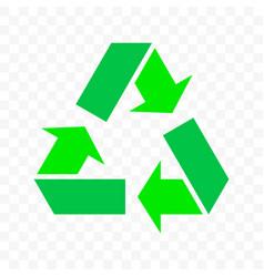 Recycle triangle arrow cycle icon eco waste bin vector