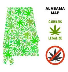 Royalty free marijuana leaves mosaic alabama state vector