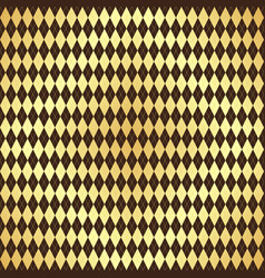 seamless pattern with metallic gold rhombuses vector image