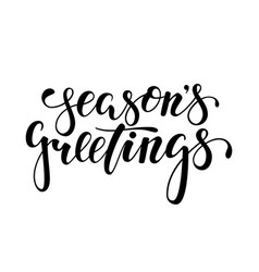 Season s greetings hand drawn creative vector