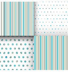 Set of seamless cute delicate simple pattern with vector