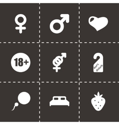 sex icon set vector image