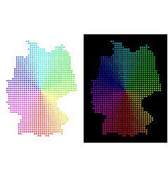 Spectral dot germany map vector