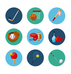 Sports related icons vector