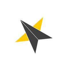 Star geometric arrow simple logo vector