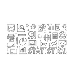statistics line vector image