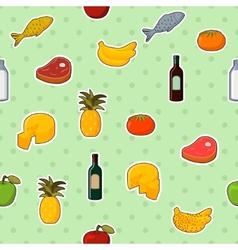 Supermarket foods seamless pattern vector