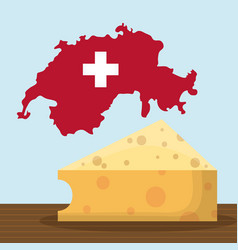 switzerland country design vector image