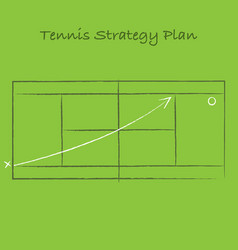 tennis strategy background vector image