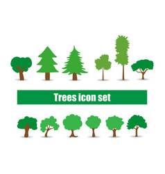 variety of trees in a flat vector image